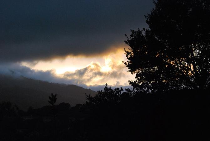 Mt. Tamalpais at sunset